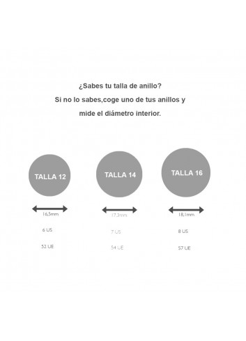 Anell cercle plata