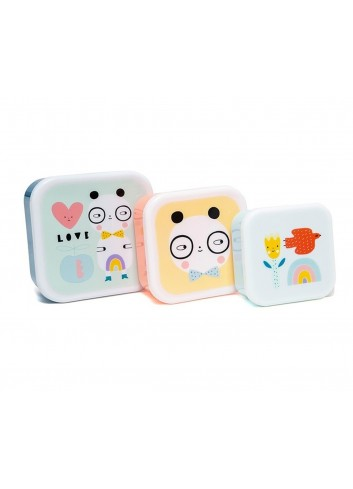 Conjunt de 3 capses Panda Love