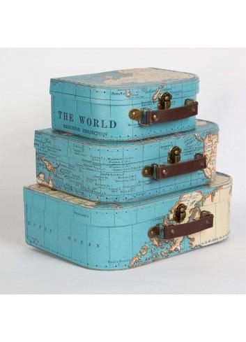 Capsa maleta mapamundi petita