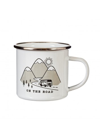 Taza metálica On the road