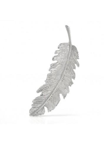 Pasador pluma plata