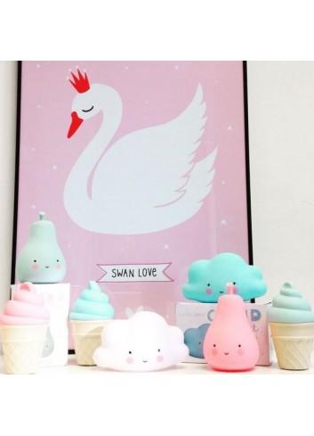 Lámina swan love de A little lovely company