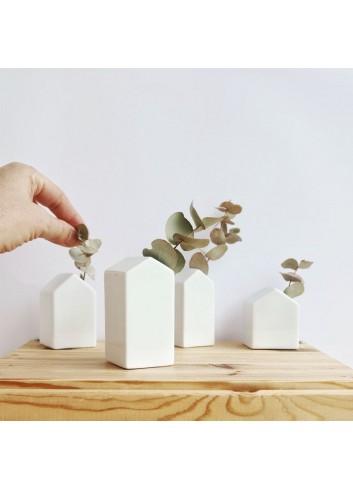 Conjunt de quatre casetes de porcellana