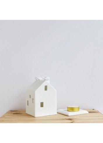 Casa pajarería de porcelana