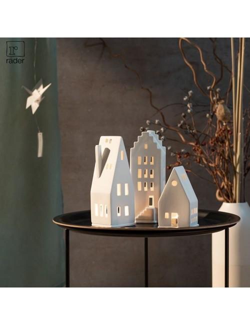Casa de porcelana triangular pequeña