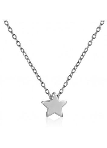 Collaret estrella plata