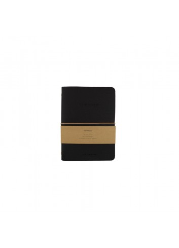 Llibreta negra de cuir vegà de Monk & Anna