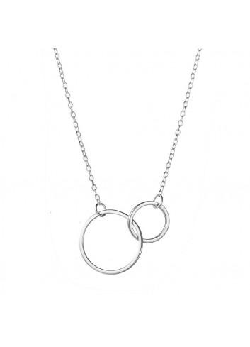 Collaret dos cercles plata